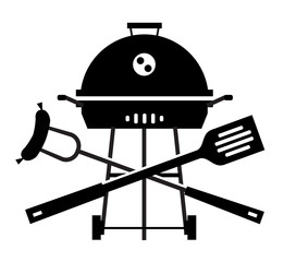 barbecue, barbeque, grill, picnic. utensils for BBQ on white