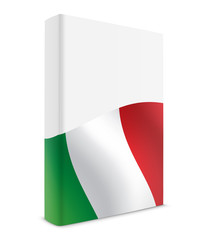Italy book cover flag white