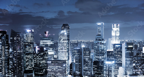 Foto op Aluminium Singapore city skyline at night