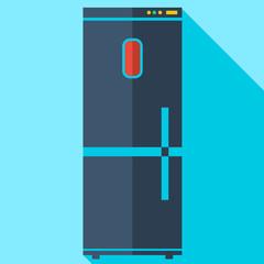 Modern flat design concept icon refrigerator. Vector illustratio