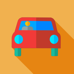 Modern flat design concept icon car.