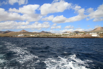Puerto Calero Lanzarote from the sea