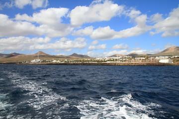 Puerto Calero Lanzarote from the sea