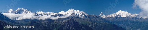canvas print picture 4000er im Wallis