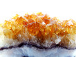 Leinwandbild Motiv citrine geode geological crystals