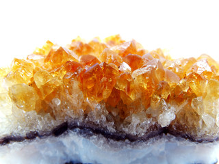 citrine geode geological crystals