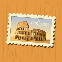 Colosseum stamp