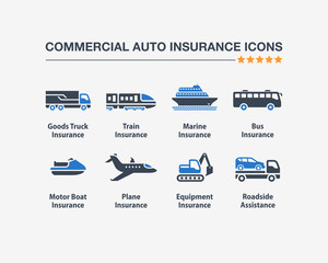 Commercial Auto Insurance Icons 1