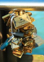 Locks symbolizing an unbreakable bond of loved ones
