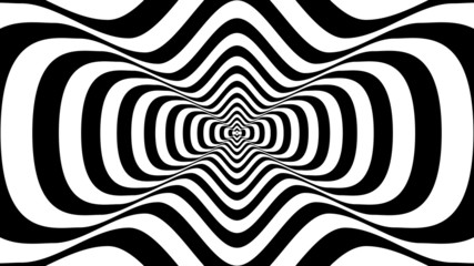 Abstract wavy shape with two crests -  optical illusion