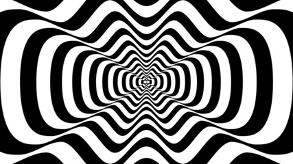 Abstract wavy shape with three crests -  optical illusion