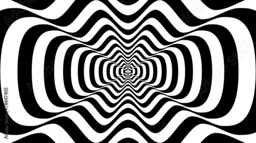 Abstract wavy shape with three crests -  optical illusion - 78647405