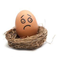 oeuf malheureux dans un nid