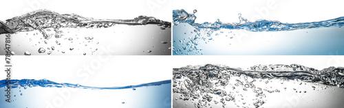Leinwandbild Motiv onde splash collage