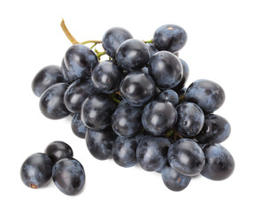 purple grapes isolated on the white background