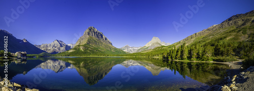 Tuinposter Bergen Swiftcurrent Lake