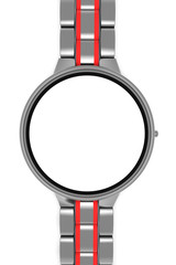 Wrist Watch blank screen on white background