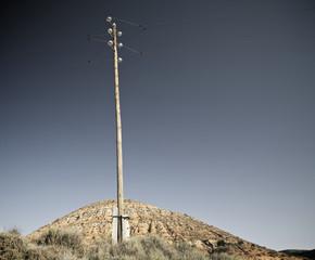 Wooden pylon