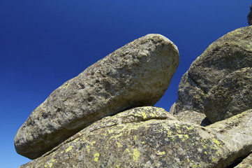 Rock formation and blue sky