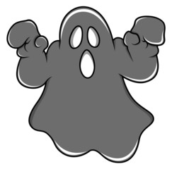 Spooky Halloween Ghost Cartoon Vector
