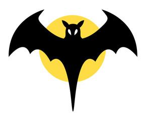 Bat Sign - Halloween Vector Illustration