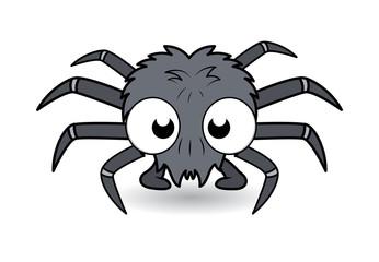 Funny Cartoon Spider - Halloween Vector Illustration