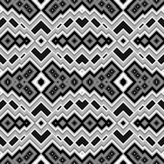 Retro seamless black and white pattern with wavy effect
