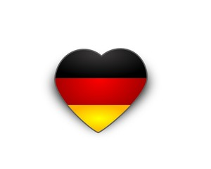 Heart flag of Germany