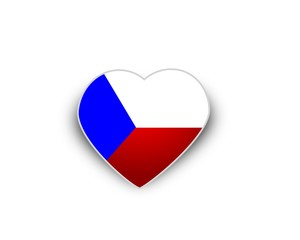 Heart flag of Czech Republic