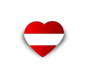 Heart flag of Austria
