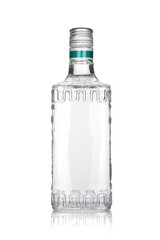 Bottle of silver tequila
