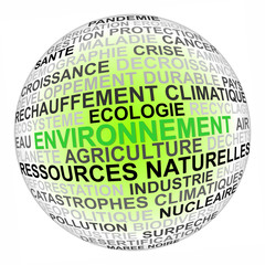 Globe environnement concept illustration