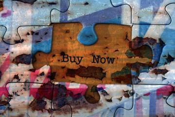 Buy now  puzzle concept
