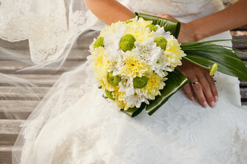 wedding bouquet of chrysanthemum flowers