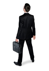 Business man looking back