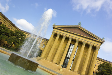 Philadelphia Museum of Art & Fountain, East Entrance