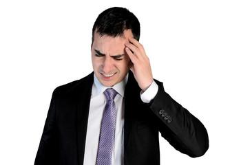 Business man  headache problem