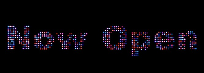 Now open led text