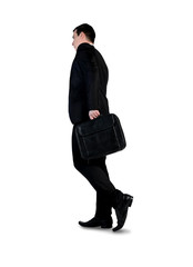 Business man walk back