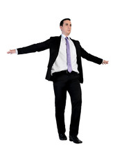 Business man balance walk