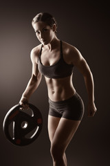 muscle with barbell