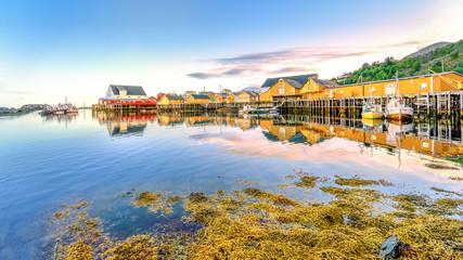 Dorf auf den Lofoten, Moskenesøy