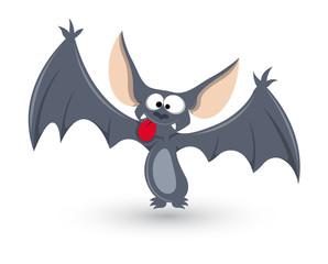 Ghost Bat Funny - Halloween Vector Illustration