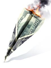 American market crash or dept concept.
