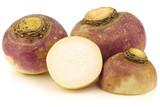 fresh turnips on a white background - 78653440