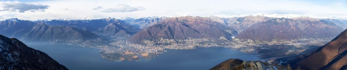 View of the Lake Maggiore