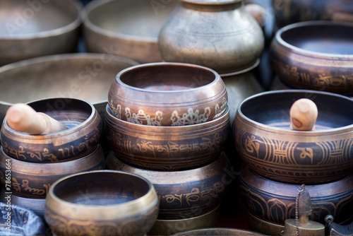 Foto op Canvas Nepal Singing Bowls