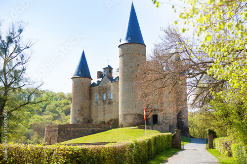 Papiers peints Chateau Beautiful Veves Castle view during sunny day