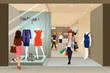 Woman shopping in a mall - 78654264