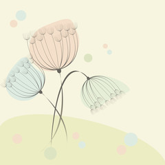 Cute floral background with a beautiful flowers.